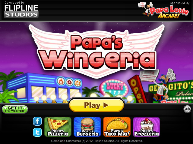 games papas wingeria
